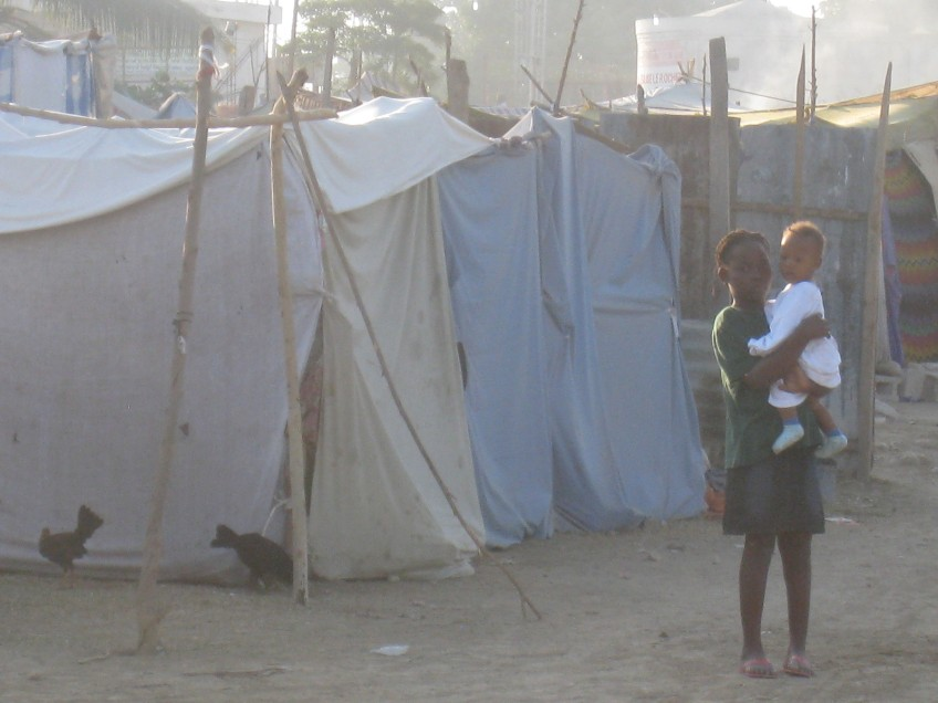 The lack of tents is going to become a major health hazard when rainy season hits.