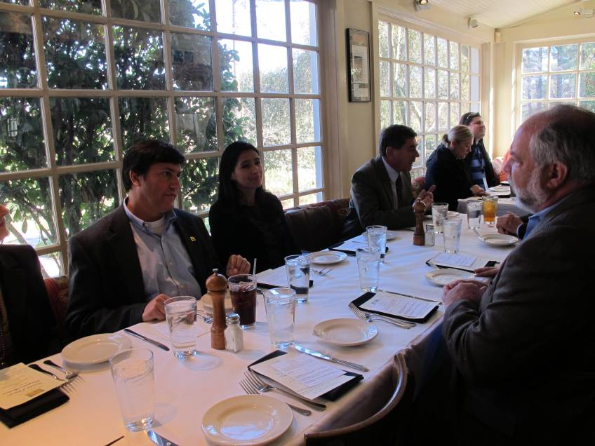 Lunch attendees, including Kimberly Clark representative