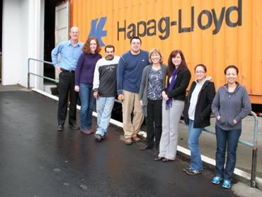 MedShare's Western Regional staff send-off container after loading in San Leandro, California