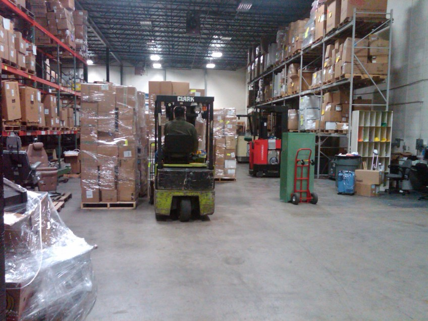 Warehouse staff preparing boxes for the shipment