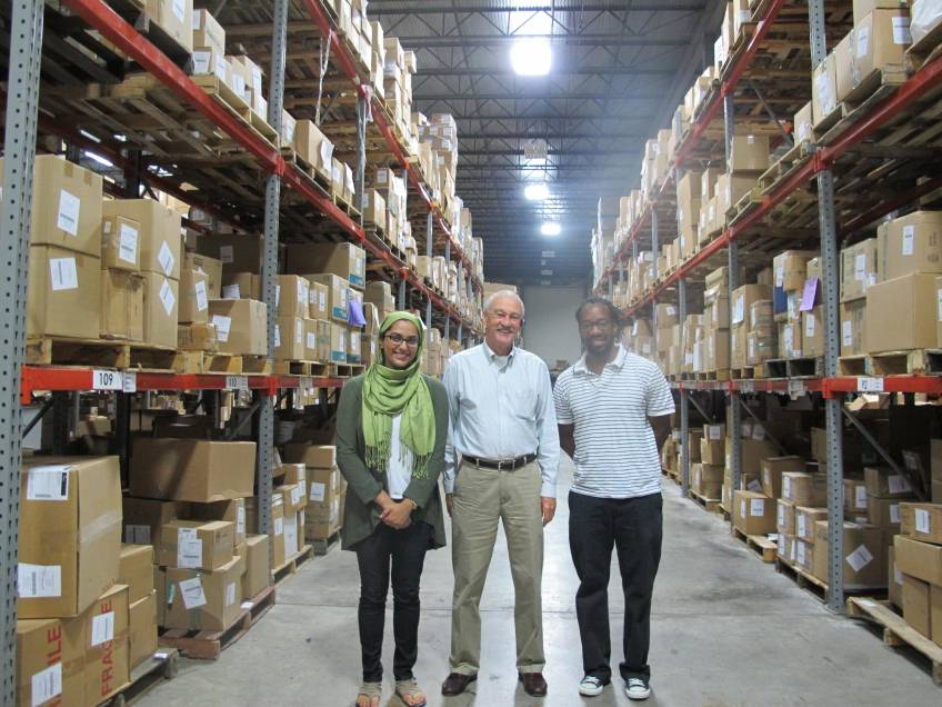 Clint and Sana with A.B. Short, MedShare CEO & Co-Founder