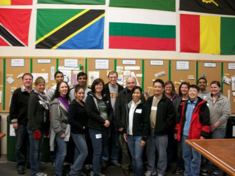 On Dec. 7, 2011 these Abbott Vascular volunteers sorted 430 lbs and packed 81 boxes.