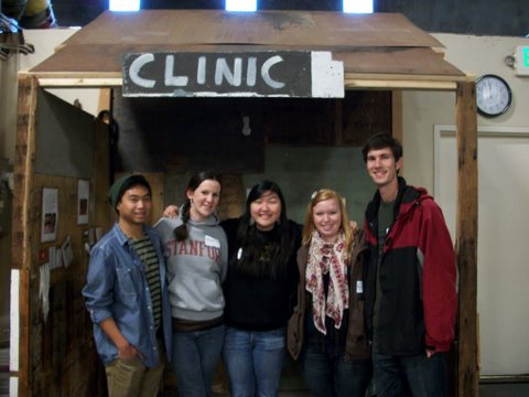 On December 17, these Hugh O'Brien Youth Leadership volunteers sorted drapes and packed 77 boxes.