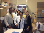 MedShare team celebrates shipment arrival with hospital staff and on-the-ground partners