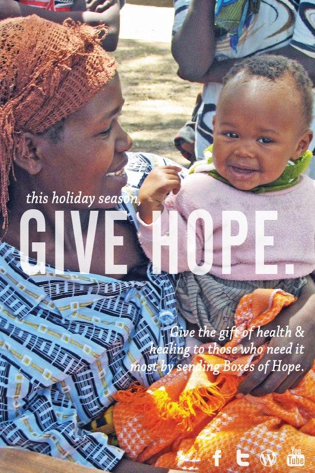 This holiday season, GIVE HOPE.